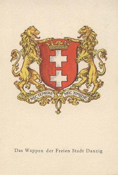 Das Wappen von Danzig
