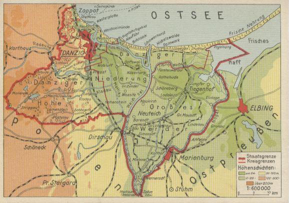 map of Danzig
